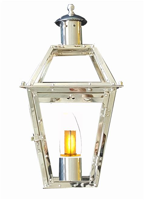 new orleans gas lights chrome plated 24 french quarter lantern new orleans gas