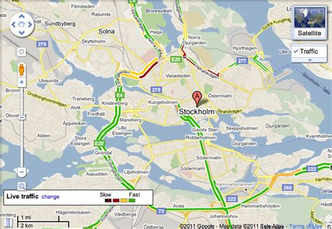 google stockholm road traffic data in google maps for sweden and taiwan