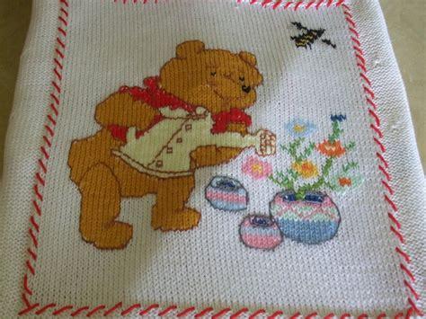 copertine per culla a maglia copertina ricamata a mano per culla bambini per la