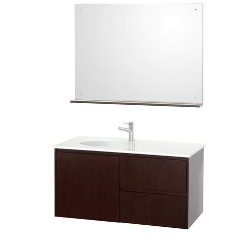 fellino 42 quot wall mounted bathroom vanity set espresso