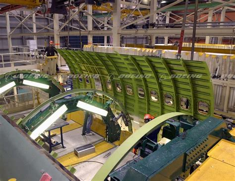 fuselage section boeing images 737 700 fuselage section under assembly