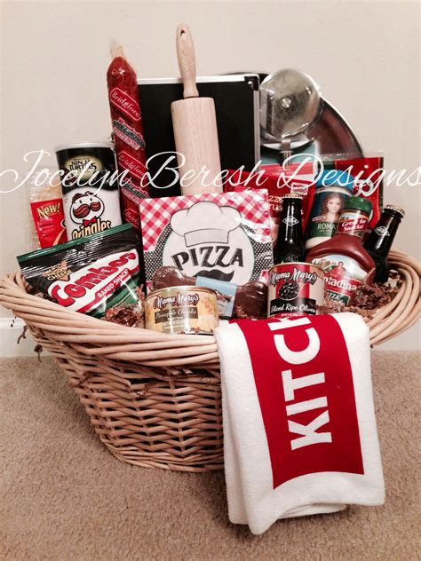themed gifts for family pizza night basket by jocelynbereshdesigns luxury gift
