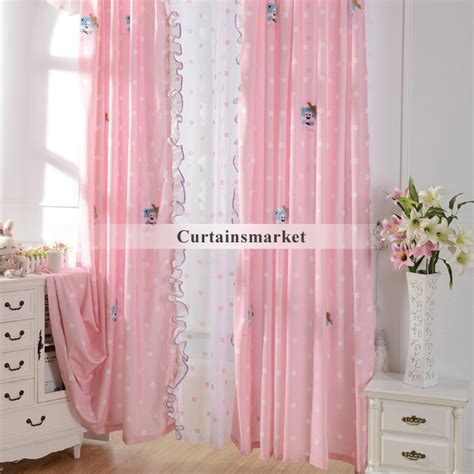 pink patterned curtains online cute patterned pink kids room curtains for little girls