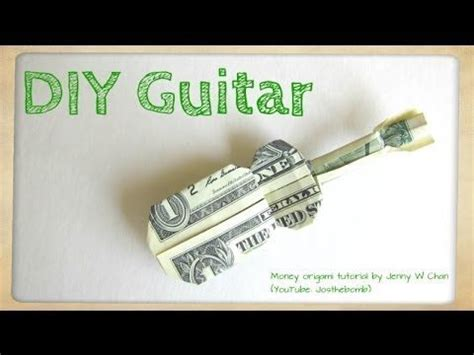 Dollar Origami Guitar - diy how to fold money origami guitar 1 one dollar
