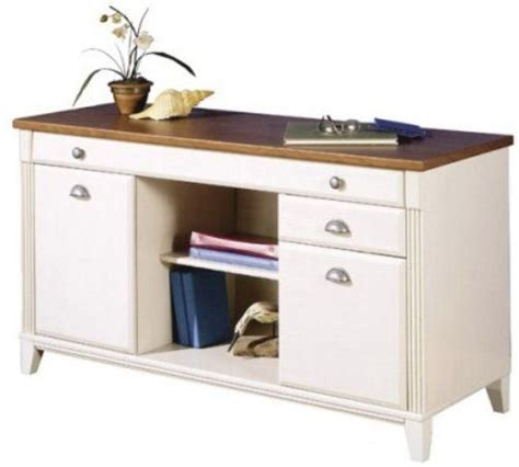 antique white office furniture bush wc80218 credenza antique white salome cherry newport cove collection box drawer for