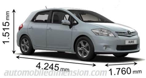 Toyota Auris Size Toyota Auris Dimensions