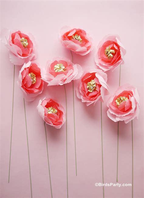 paper flower tutorials   wedding easy crepe