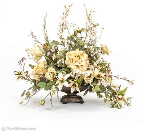 artificial floral arrangements cream silk floral arrangement traditional artificial