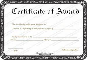 Best Certificate Templates award certificate templates free images
