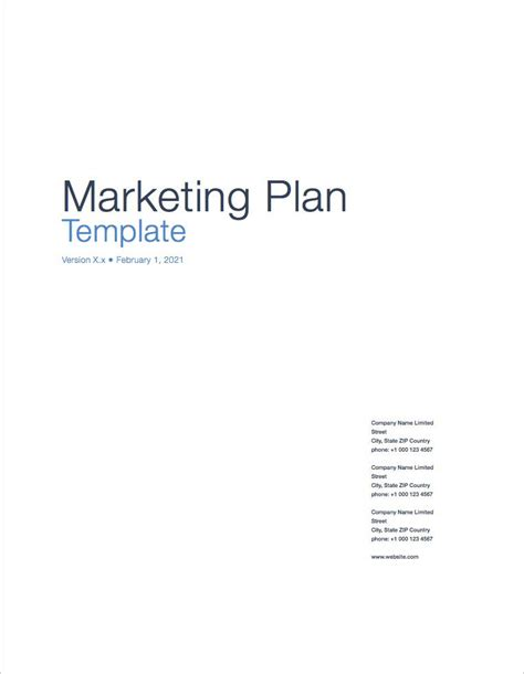 marketing page template marketing plan apple iwork pages numbers