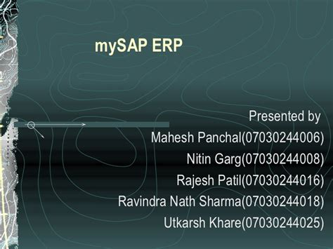 Mba Seminar Topics Ppt by My Sap Ppt By Ravindra Nath Sharma Mba Synbiosis