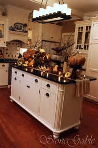 Buffet Kitchen Island by Stonegable Thanksgiving Woodland Buffet