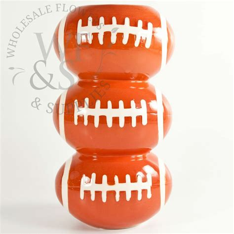 Ceramic Football Vase by 3 Tiered Football Vase Wholesale Flowers And Supplies