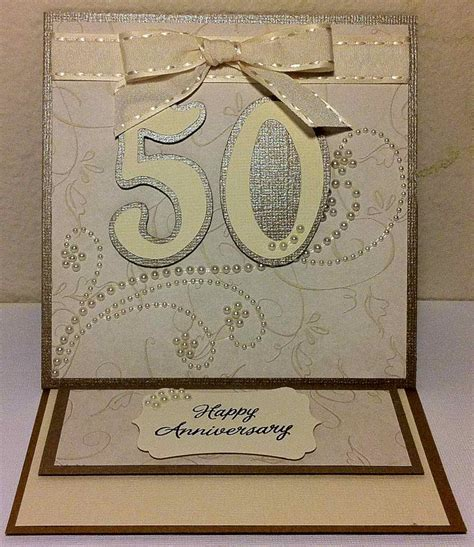50th Anniversary Photo Cards 50th wedding anniversary card my scrapper