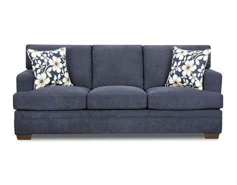 sears outlet sofas simmons upholstery 6491s chicklet sofa midnight blue