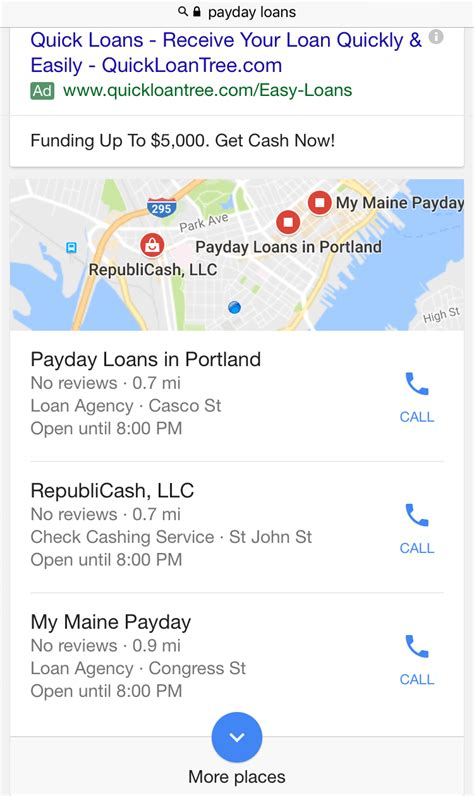 phone lookup maine why are payday loan ads still showing on after the ban