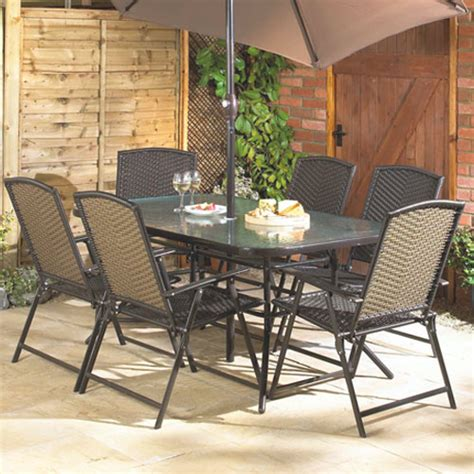 milan 8 garden furniture set with 2 3m parasol