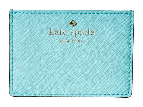 Katee Spadee 4in kate spade new york cedar card holder in green lyst