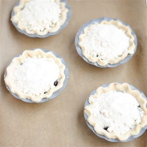 Pie Cheese Blueberry Mini pie for pi day blueberry cheese streusel mini pies
