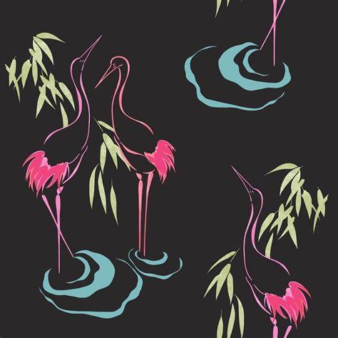 pink flamingo wallpaper uk curiosity flamingo black pink wallpaper by rasch 263502
