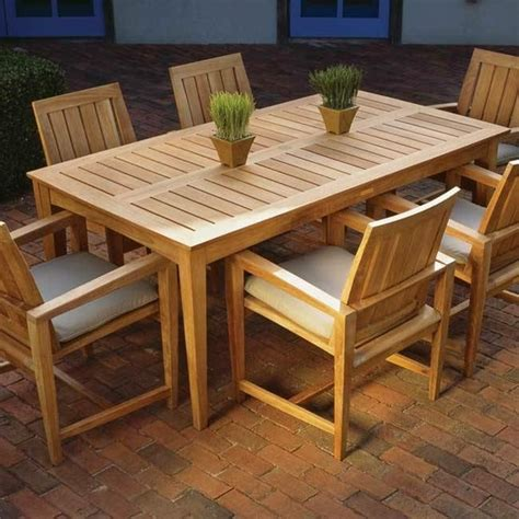 17 Best Images About Outdoor Table On Pinterest Outdoor Outdoor Wood Patio Table