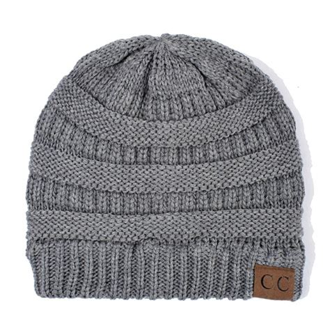Melange Beanie Hat light melange grey cc beanie hat