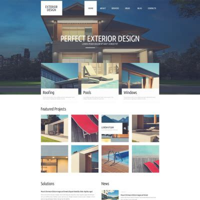home design wordpress theme exterior design wordpress themes