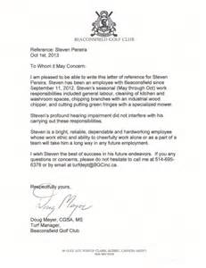 reference letter beaconsfield golf club doug meyer