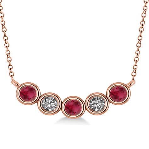 Ruby 5 25ct ruby 5 pendant necklace 14k gold 0