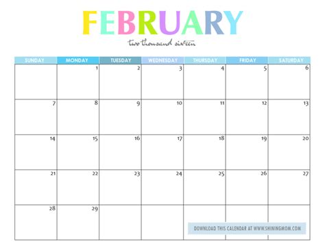 Calendar 2016 February Nz Free Printable Your Lovely 2016 Calendars