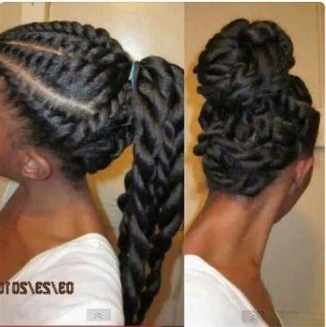 marley braid ponytail pictures 2 stranded twist ponytail updo braids natural hair twist