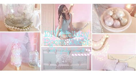 how to make home decorations diy holiday room decor a girly twist youtube