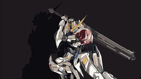 Kaos Anime Gundam Iron Blood Orphan Tekkadan Logo Mobile Suit Gundam Iron Blooded Orphans Hd Wallpaper