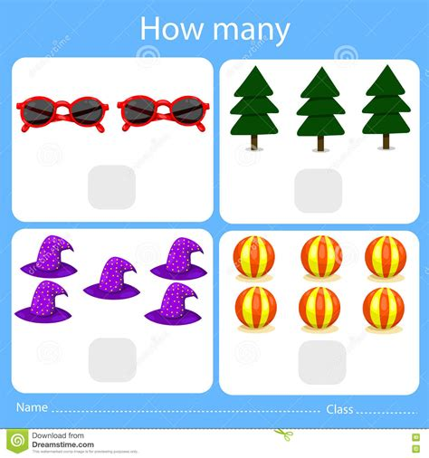 how many place settings illustrator of counting how many set three cartoon vector