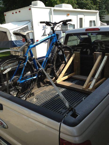 How To Build A Truck Bed Bike Rack by Wood Bike Rack