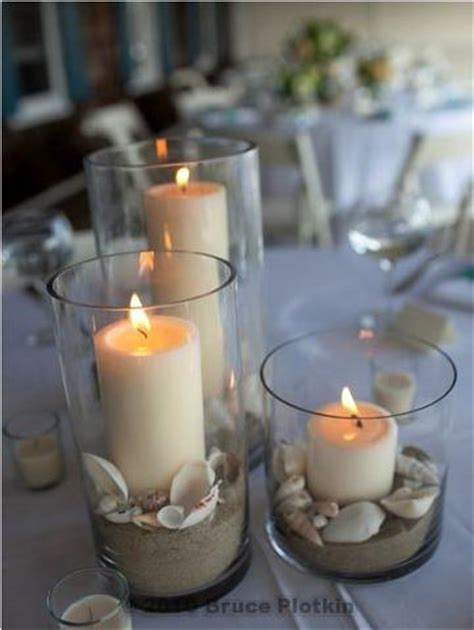 wedding centerpieces with candles and sand wedding centerpiece sand shells candles flickr