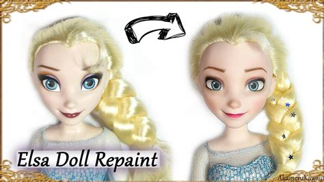 porcelain doll repaint diy elsa makeover frozen disney doll repaint tutorial