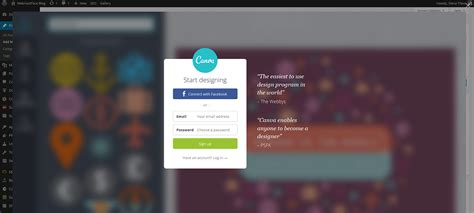 canva login page the new canva design plugin for wordpress now coming with