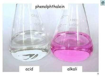 phenolphthalein color what are the colours of phenolphthalein in acidic and