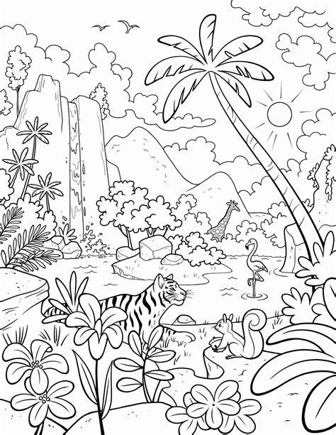 jungle habitat coloring pages jungle
