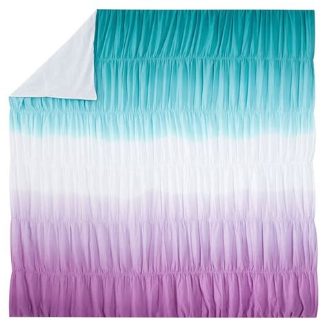 surf dip dye ruched duvet cover sham pool purple pbteen
