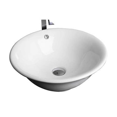 home depot white vessel sink imaginations ceramic vessel sink in white