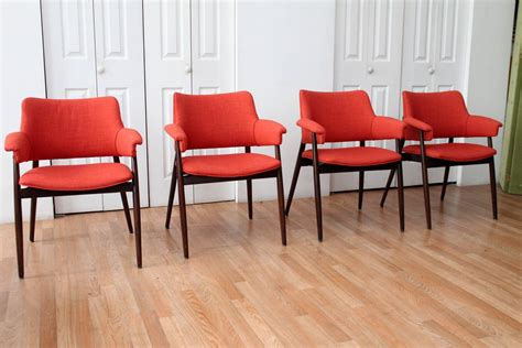 orange dining room sets orange reupholstered mid century modern walnut dining