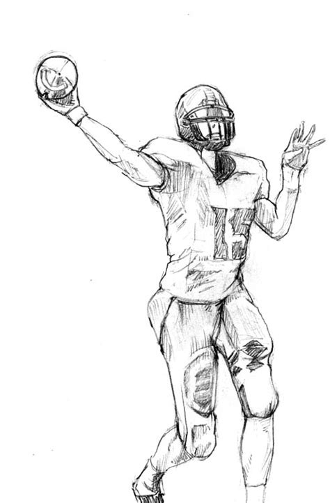 nfl quarterback coloring pages image gallery quarterback drawings