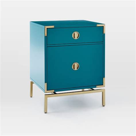 blue nightstand malone caign nightstand blue teal west elm