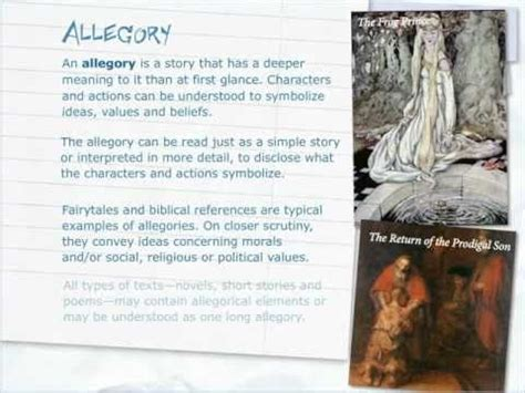 exle of allegory exles of allegory to learn
