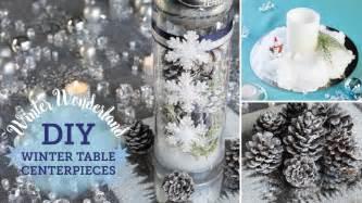 snow decorations diy winter table centerpieces snow