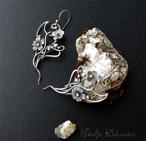 Handmade Jewelry Artist - untitledsilver earrings handmade wire jewelry by
