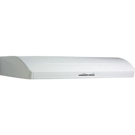 broan nutone under range hoods nutone rl6200 30 in non vented range hood in white