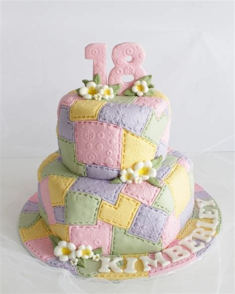 Patchwork Cakes - pastel patchwork cake cake pastel